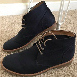 H&M Navy Blue Chukka Boots (Suede)